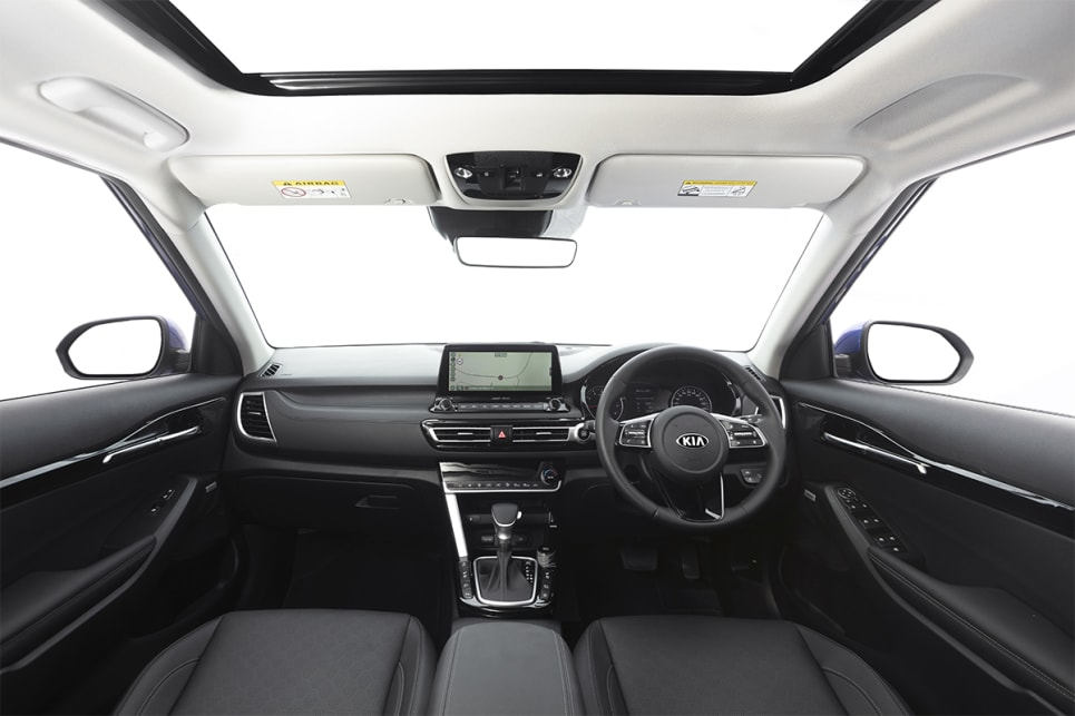 Inside, there's interior mood lighting, an eight-speaker Bose stereo, and a 7.0-inch driver info display.